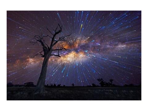 Nachthimmel mit Sternenstreifen
