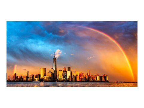 Regenbogen ueber New York