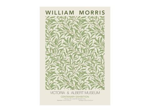 William Morris - gruenes Blumenmuster