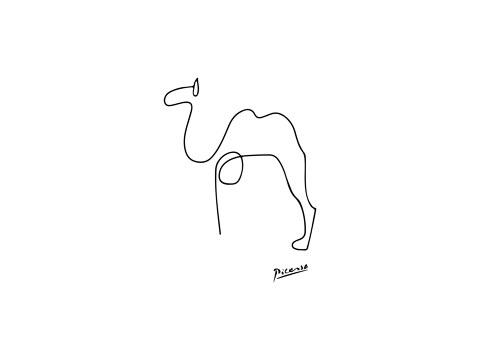 Picasso - Kamel schwarzweis