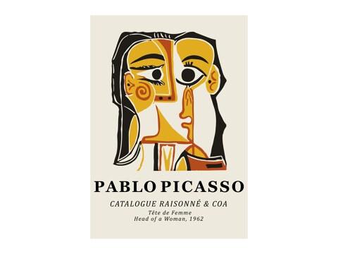Pablo Picasso - Tete De Femme 1962