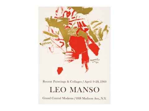 Leo Manso Ausstellungsposter von 1960