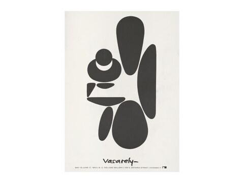 Victor Vasarely Ausstellungsplakat von 1964
