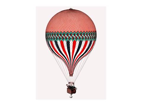 Vintage Illustration Heisluftballon