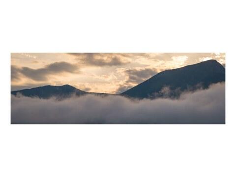 Berge und Watte