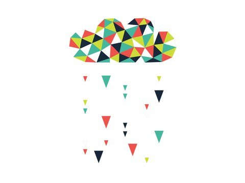 Origami-Wolke