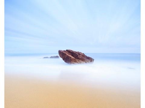 abstraktes Strandbild