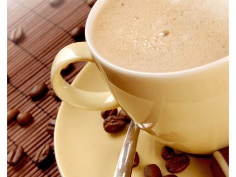 Bild Kaffee mit Bohnen