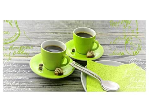 Kaffeemotiv grün