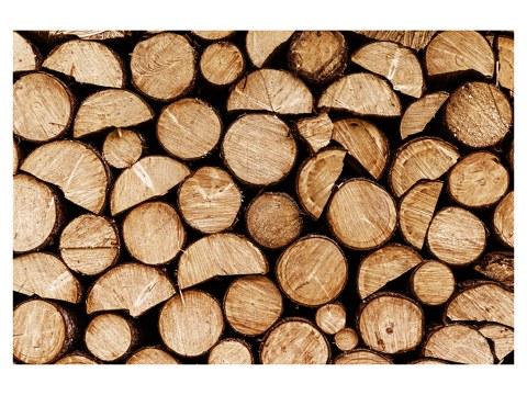 Holz gestapelt