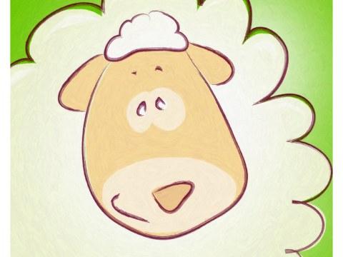 Kinderzimmerbild Schaf