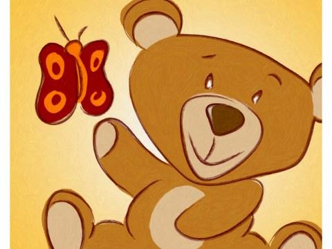 Kinderzimmerbild Teddy