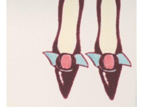 Pop Art Bild Schuhe
