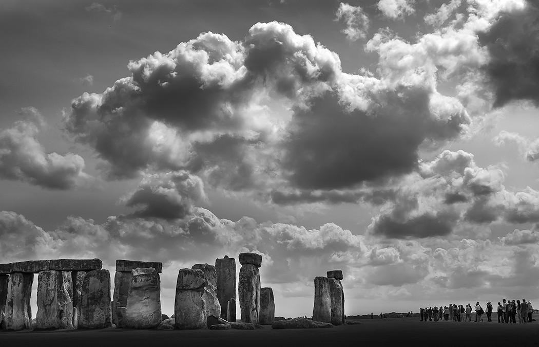 Schwarz-weiss-Fotografie: Foto von Stonehenge