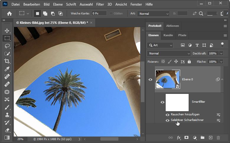 Bilder vergrößern / Bildgröße erhöhen mit Photoshop - Bild 2