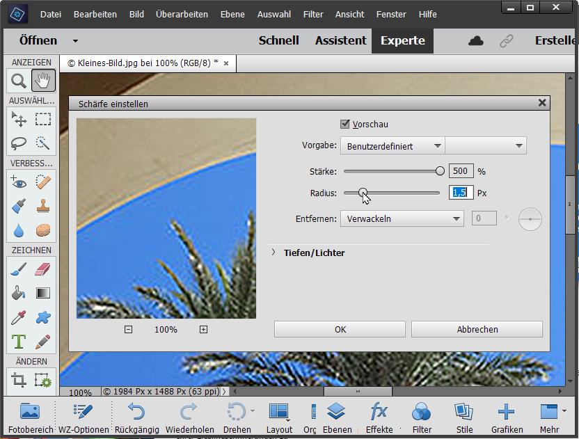 Bilder vergrößern / Bildgröße erhöhen - Schritt 4