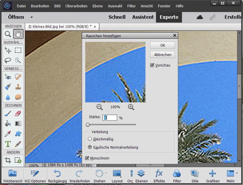 Bilder vergrößern / Bildgröße erhöhen - Schritt 5