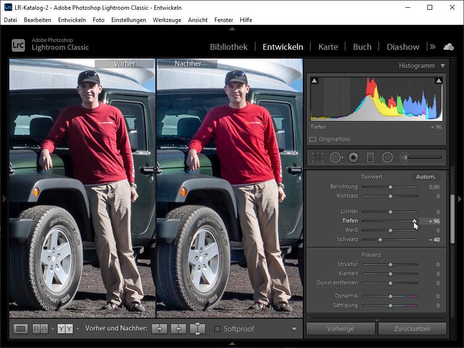 Bildqualität verbessern: Schattige Bereiche aufhellen