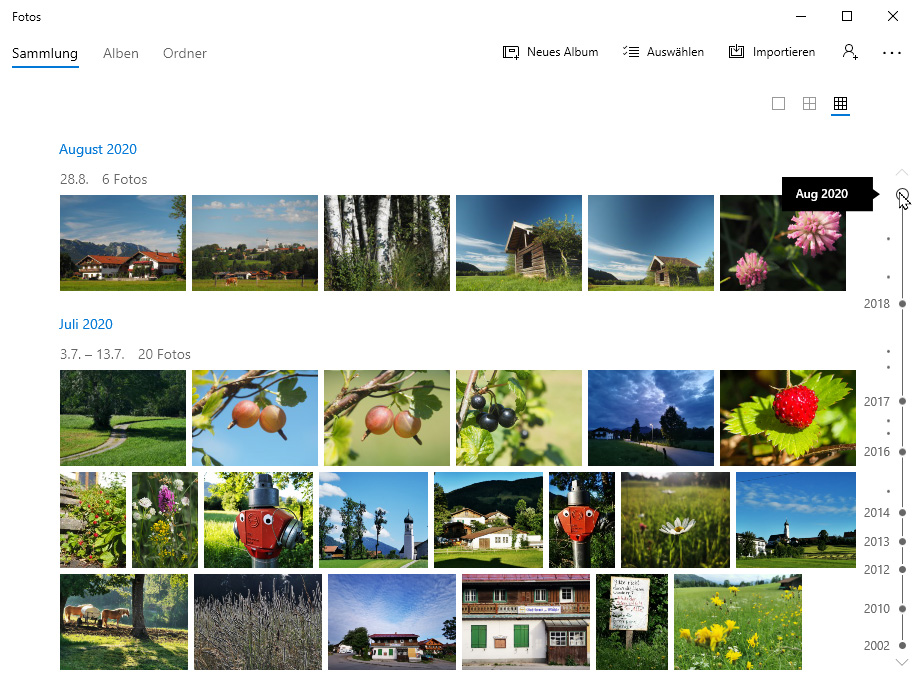 Fotos verwalten mit Bildverwaltungsprogramm