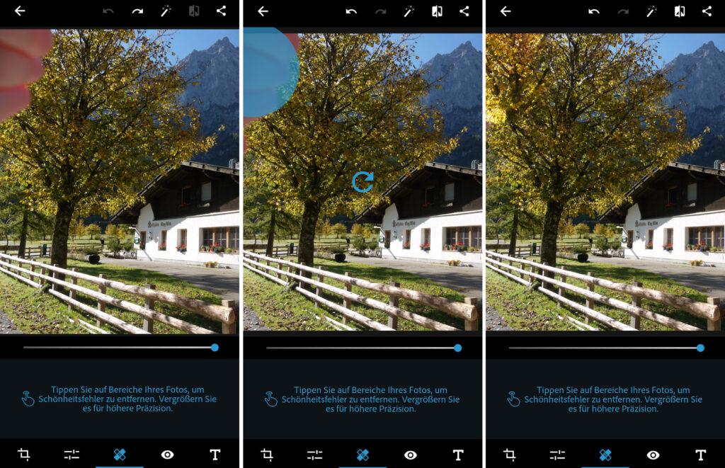 Fotos retuschieren am Handy
