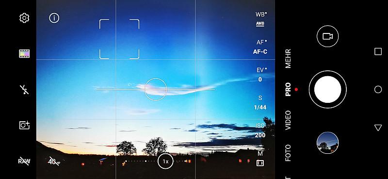 Handy-Bilder bei schlechten Bildverhältnissen, ISO 200 einstellen