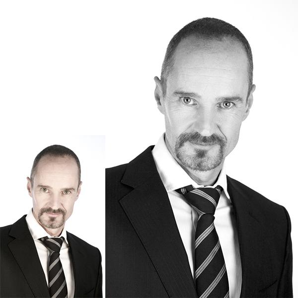 Portrait in Farbe und Schwarz Weiß
