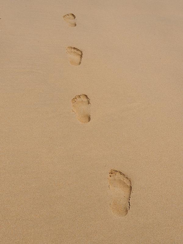 Urlaubsfoto Detail Sandabdruck