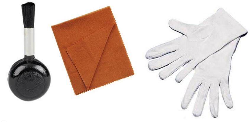 Staubpinsel Staubtuch Handschuhe