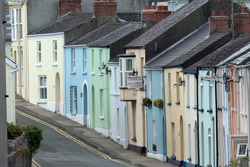 Urlaubsfoto Häuser verdichtet