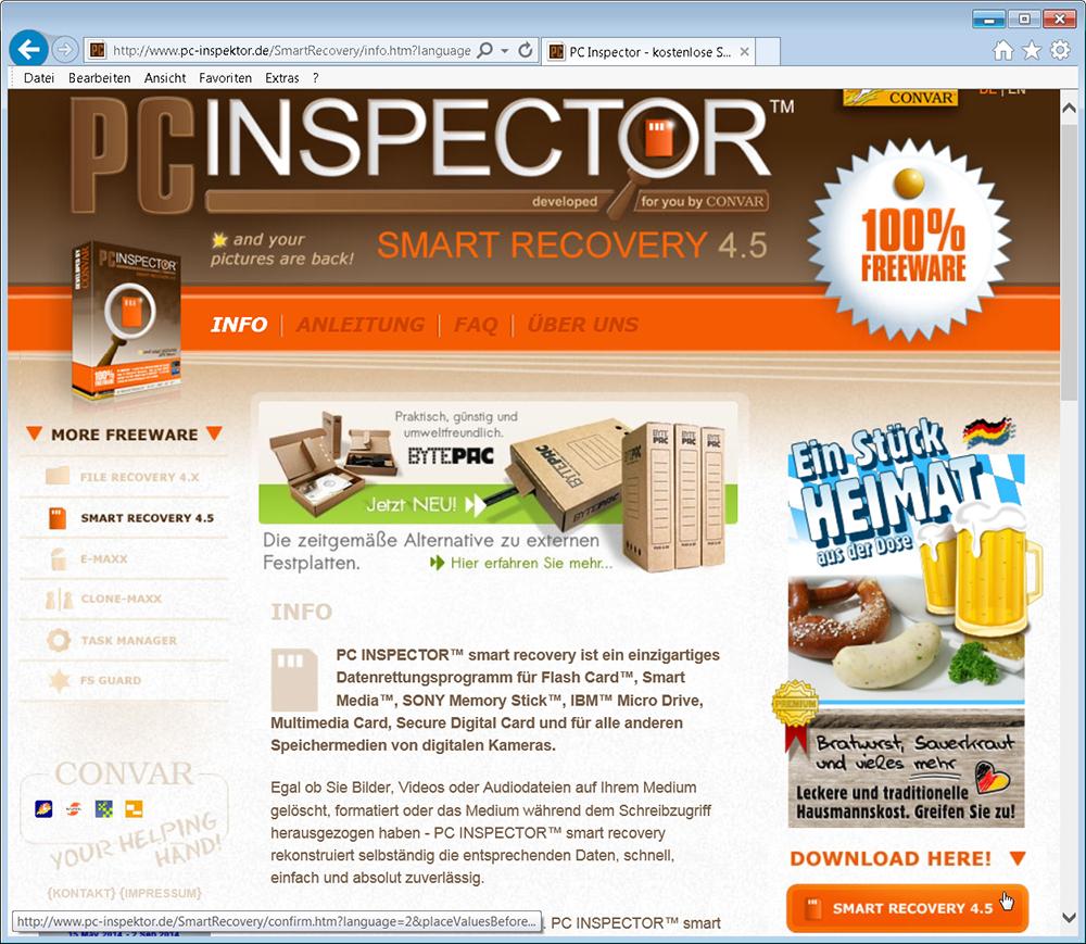 Pc Inspektor Screen