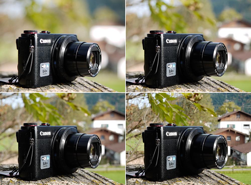 Bokeh Kamera Varianten hoch