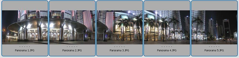 Panorama Bild Aufteilung