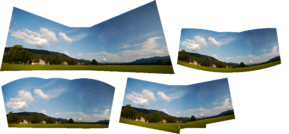 Panorama Projektion Bild