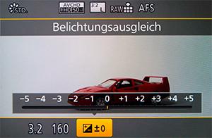 Belichtungskorrektur Bild