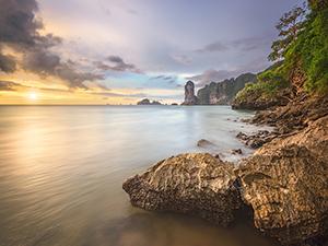 Bucht im Sonnenuntergang