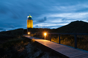 Leuchtturm nahe Kampen auf Sylt
