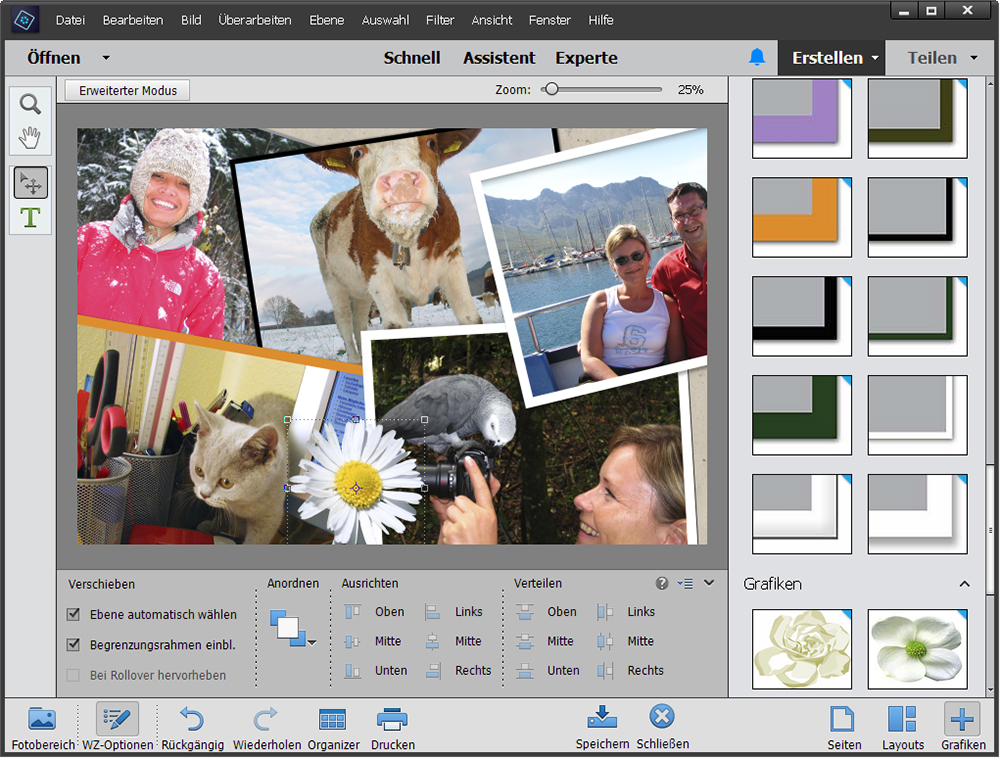Fotocollagen erstellen: Programm Photoshop-Elements