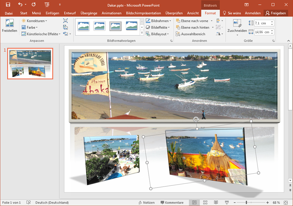 Fotocollagen in PowerPoint erstellen
