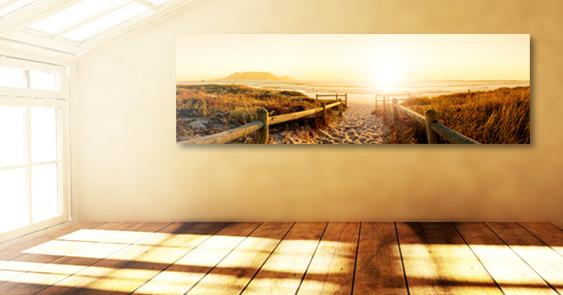 Geschenkidee mit Fotos: Panoramablick auf den Strand