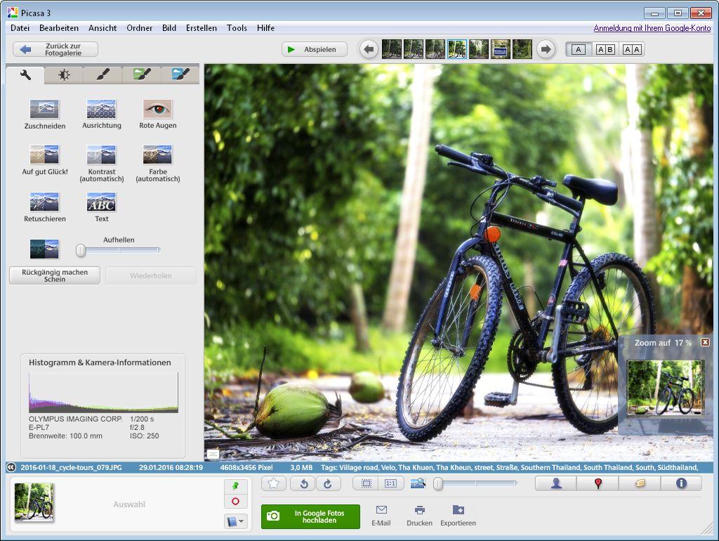 Google-Programm Picasa verbessert Bildqualität