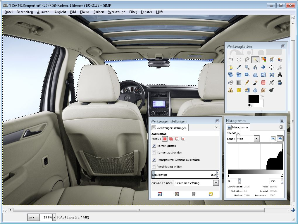 Bildbearbeitung mit Gratisprogramm Gimp