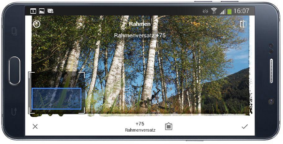 Korrekturen und Effekte mit Snapseed
