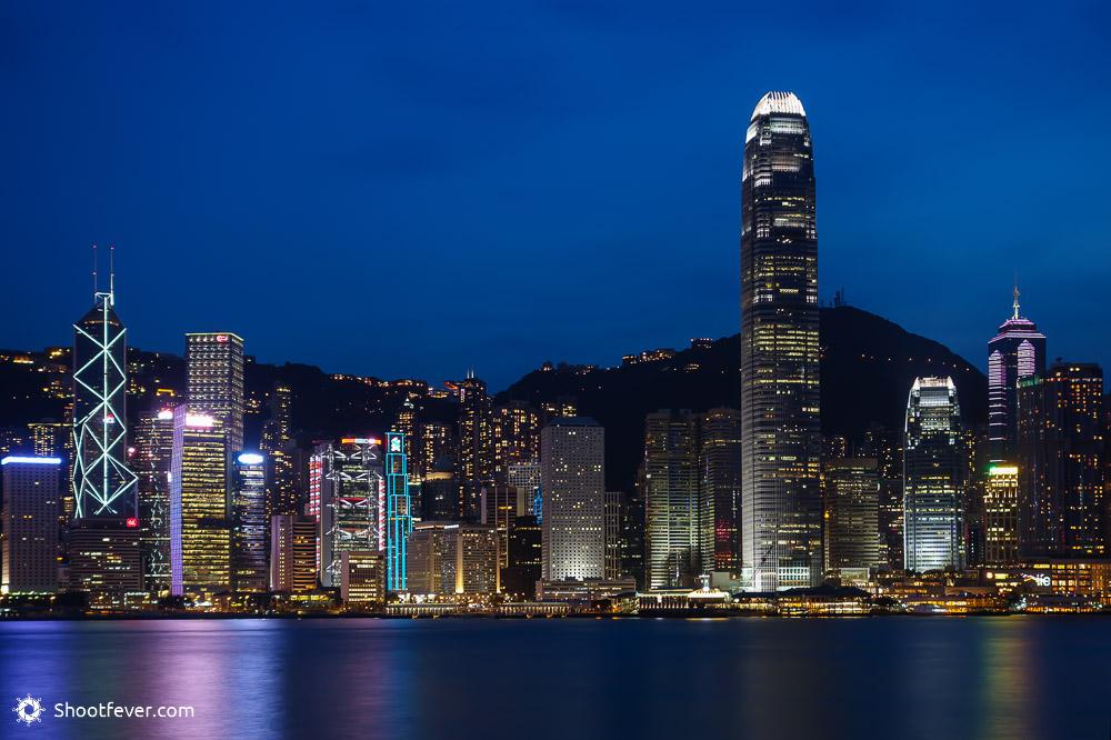 Hongkong Island und Victoria Harbour