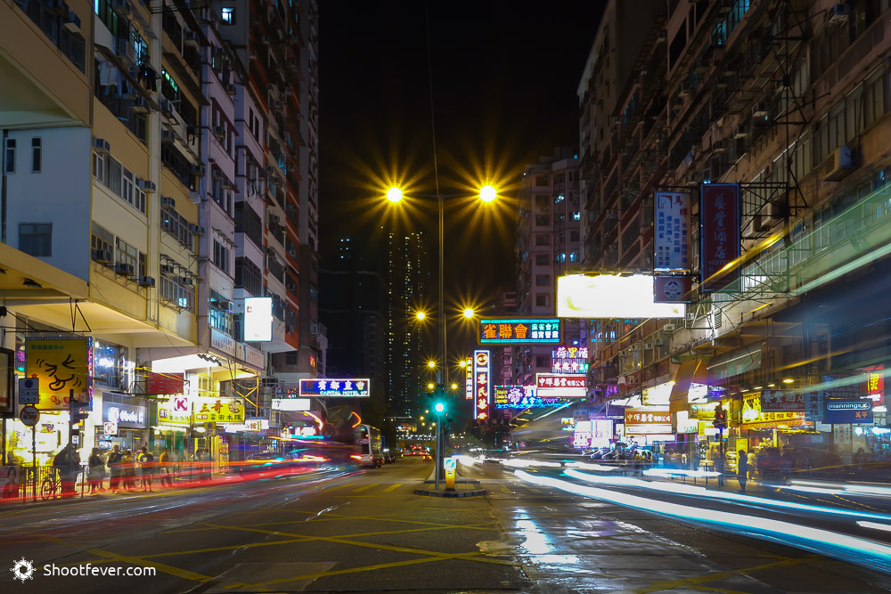 Straße in Hong Kong