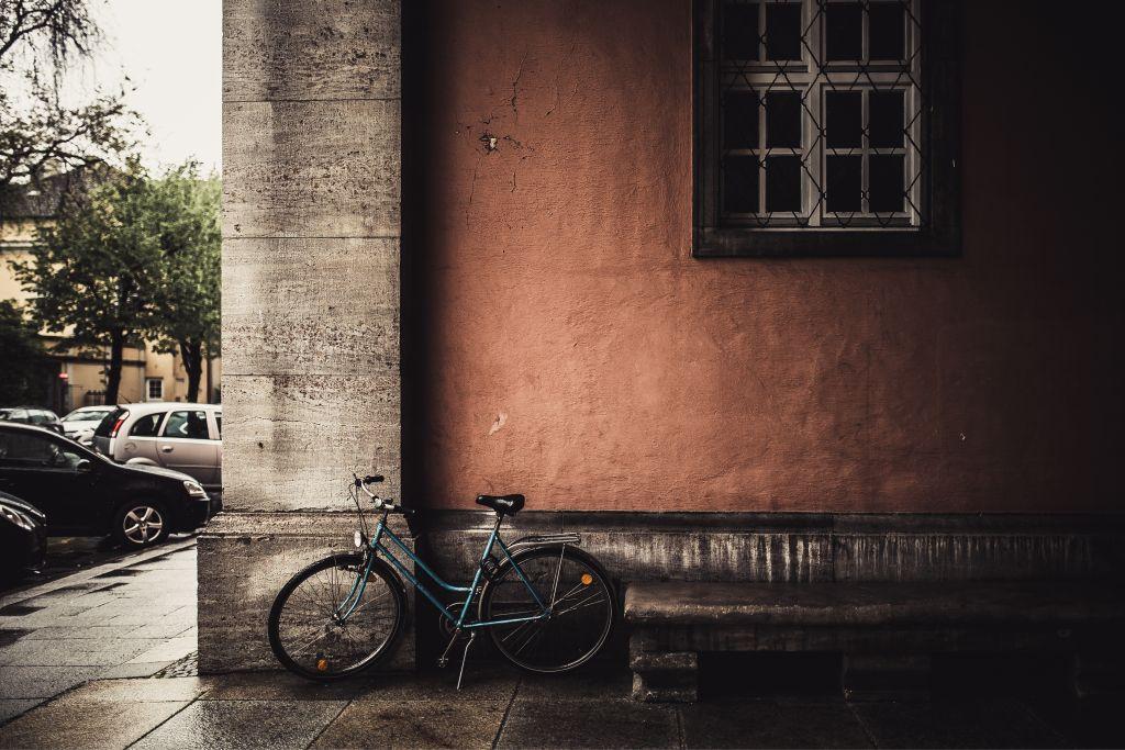 Straßenfotografie Beispiel 1 Fahrrad