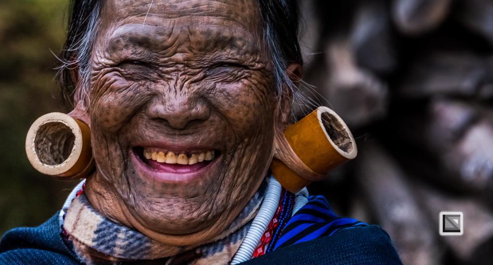 Chin State, Myanmar, Frauen-Portrait