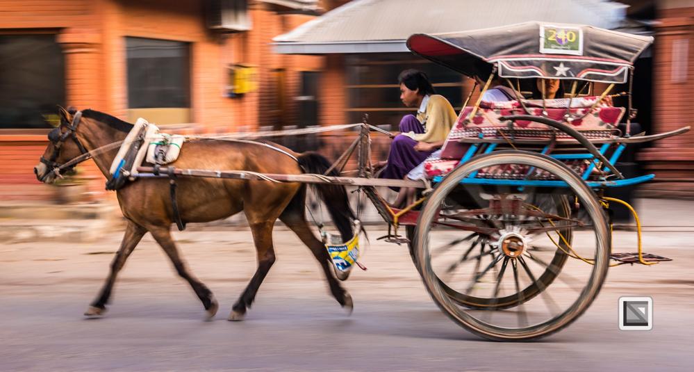 Bagan, Myanmar, Pferdekutsche