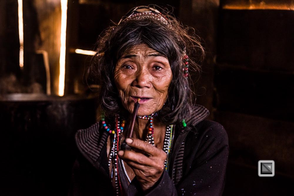 Phongsaly, Laos, Frauen-Portrait bunt