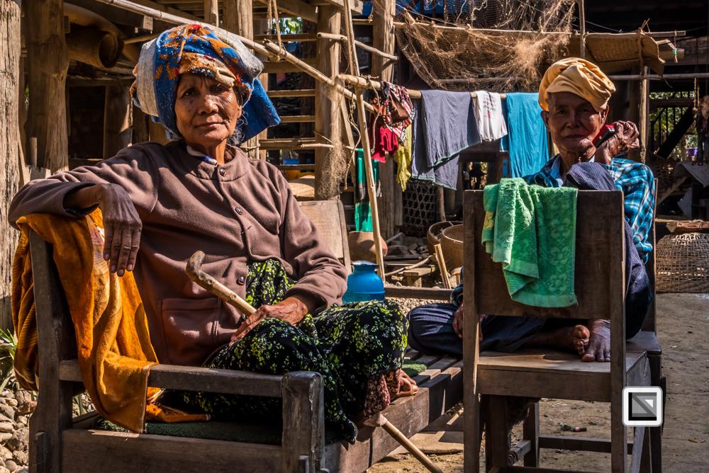 Khamti, Myanmar, ältere Frau