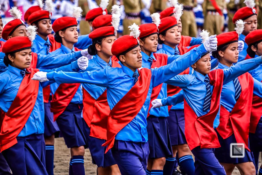 Independence day in Darjeeling, Aufnahme mit Zoom